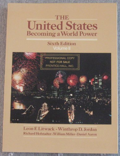 9780139384325: United States: Becoming a World Power v. 2