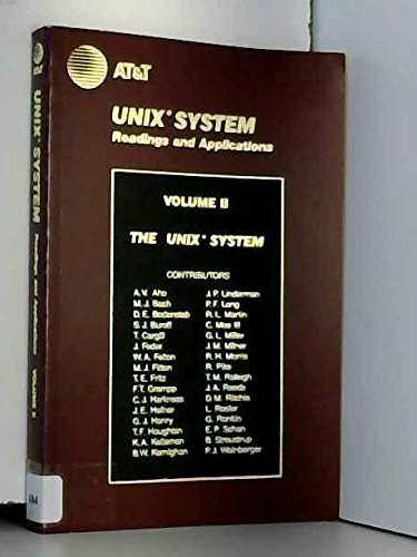 9780139398452: Unix System Readings and Applications: v. 2