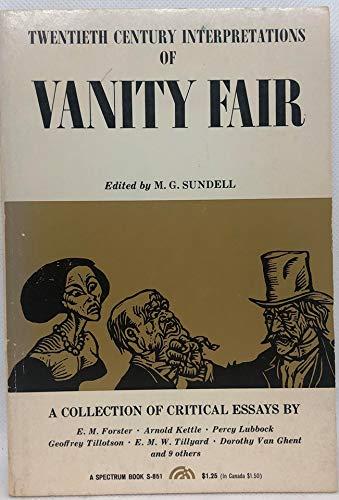 9780139403873: Vanity Fair: A Collection of Critical Essays (20th Century Interpretations)