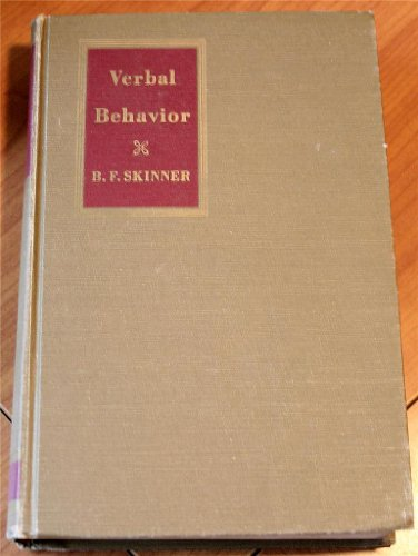 9780139415913: Verbal Behavior (The Century psychology series)