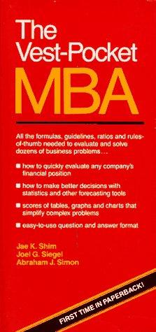 9780139417092: Vest Pocket MBA