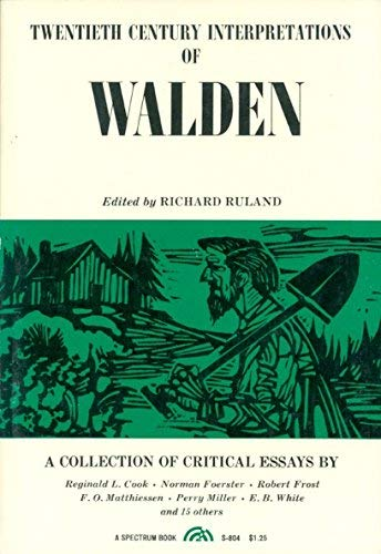 Twentieth Century Interpretations of Walden: A Collection of Critical Essays (20th Century ...