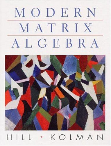 9780139488528: Modern Matrix Algebra