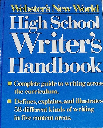 9780139497773: Webster's New World High School Writers Handbook