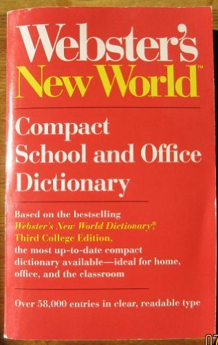9780139498015: Webster's New World Compact School and Office Dictionary