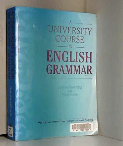9780139524905: University course eng grammar (English Language Teaching)