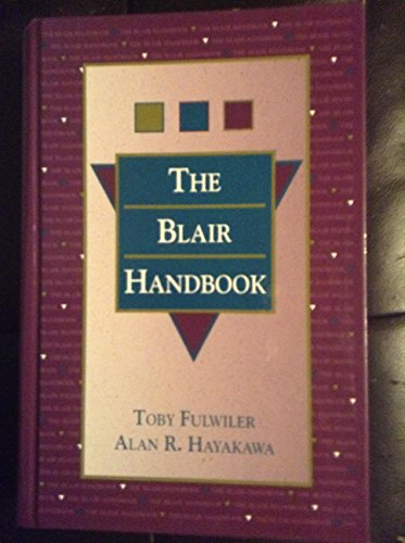 9780139532337: The Blair Handbook