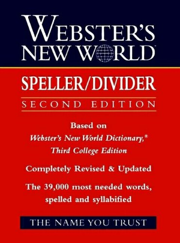 9780139536540: Webster's New World Speller/Divider