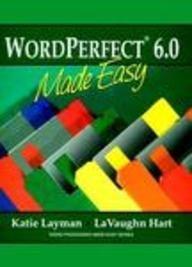 9780139538292: Wordperfect 6.0 Made Easy