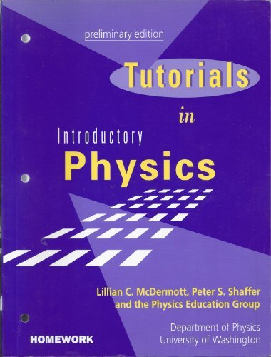 9780139546297: Tutorials in Introductory Physics