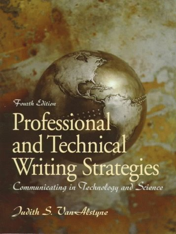 9780139547362: Professional and Technical Writing Strategies: Communicating in Technology and Science