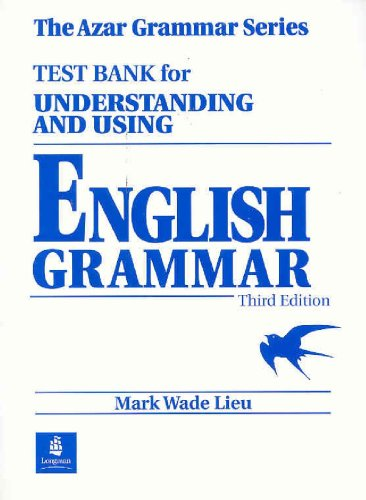 9780139586958: Test Bank for Understanding and Using English Grammar