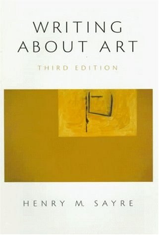 9780139599170: Writing About Art (3rd Edition)