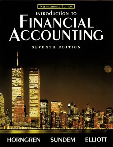 9780139619885: Introduction to Financial Accounting (7th edition)
