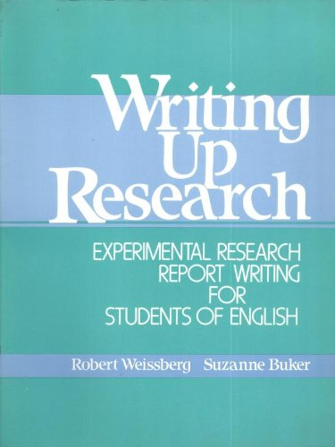 9780139708312: Writing Up Research - Experimental Report Research Writing for Student's of English: Experimental Research Report Writing for Students of English: Book