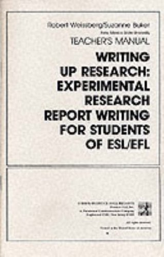 9780139708497: Writing Up Research: Instructor's Manual