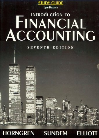 9780139742965: Introduction to Financial Accounting (Study Guide)