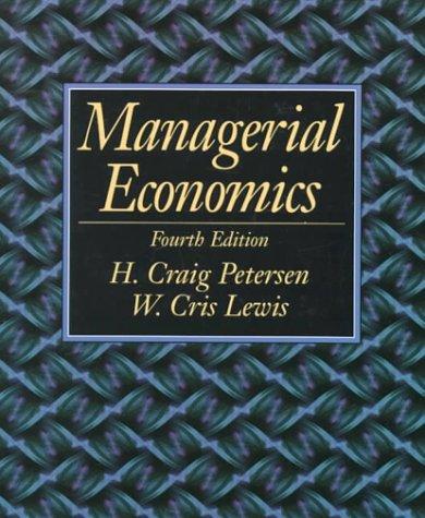 9780139762833: Managerial Economics