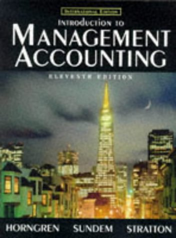 9780139777783: Introduction to Management Accounting (Prentice Hall international editions)