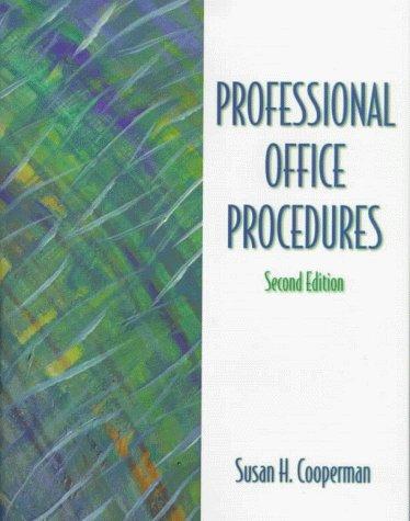 9780139795763: Professional Office Procedures