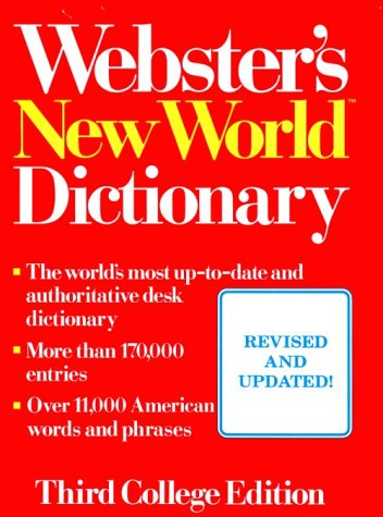 Webster's New World Dictionary of American English (0139797661) by Neufeldt, Victoria; Guralnkik, David B.