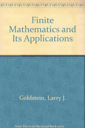 9780139871900: Finite Mathematics and Its Applications