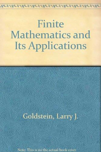 9780139871900: Finite Mathematics and Its Applications
