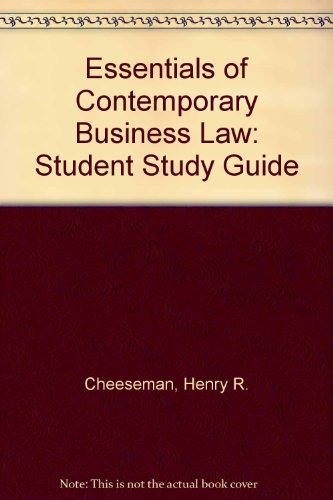 9780139953828: Essentials of Contemporary Business Law: Student Study Guide