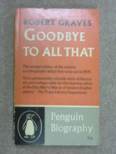 9780140014433: Modern Classics Goodbye To All That