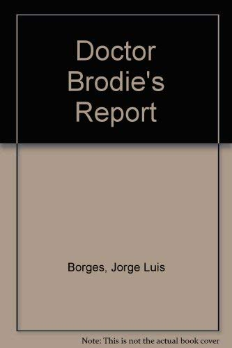 9780140040579: Doctor Brodie's Report