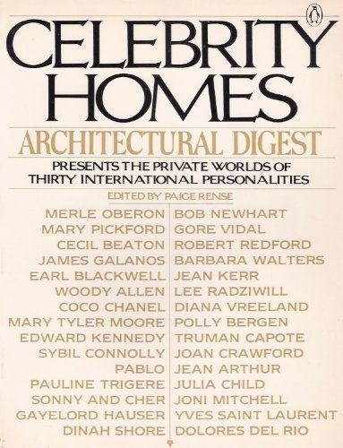 9780140052299: Celebrity Homes: Architectural Digest Presents the Private Worlds of Thirty International Personalities