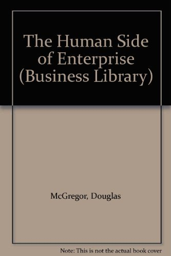 the human side of enterprise The text deals with policies and practices in the management of human resources in business and industrial organization, examining them in the light of current social science knowledge about human nature and behavior.