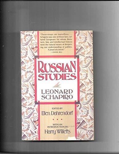 Russian Studies: Harry T. Willetts;