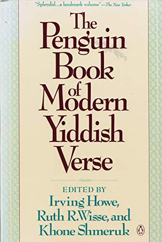 The Penguin Book of Modern Yiddish Verse: Various