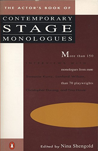 9780140096491: The Actor's Book of Contemporary Stage Monologues: More Than 150 Monologues from More Than 70 Playwrights