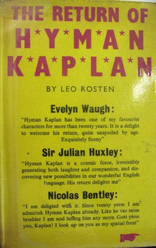 9780140117530: Return of Hyman Kaplan