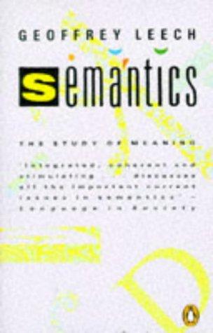 Semantics: Geoffrey N. Leech