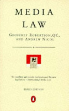 9780140138665: Media Law: The Rights of Journalists and Broadcasters
