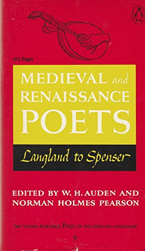 9780140150490: Poets of the English Language: Vol.1: Medieval and Renaissance Poets : Langland to Spenser (Viking portable library)