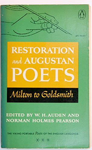 9780140150513: Restoration and Augustan Poets of the English language Milton to Goldsmith (The Viking portable library)