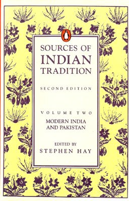 9780140154627: Sources of Indian Tradition: Vol 2