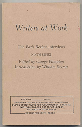 9780140166842: Writers at Work: The Paris Review Interviews, Ninth Series
