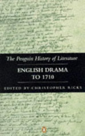 9780140177534: The Penguin History of Literature: English Drama to 1710 v. 3