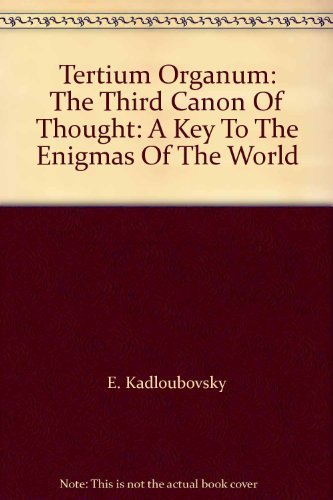 9780140191363: Tertium Organum: A Key to the Enigmas of the World (Arkana)