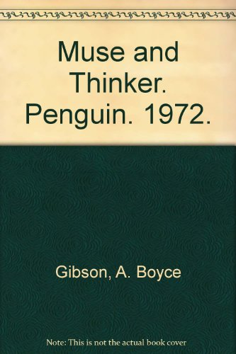 9780140210064: Muse and Thinker (Pelican)