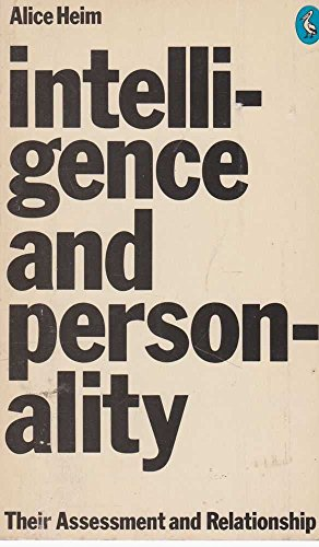 9780140212167: Intelligence and Personality: Their Assessment and Relationship (Pelican)