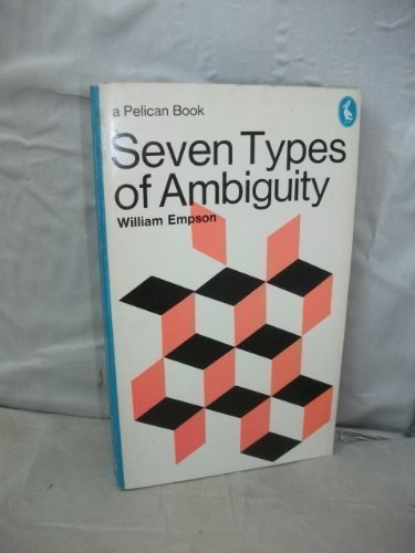 9780140214789: Seven Types of Ambiguity (Pelican)