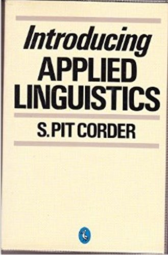 Introducing Applied Linguistics: Stephen Pit Corder