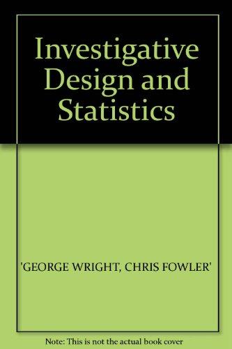 9780140226164: Investigative Design and Statistics