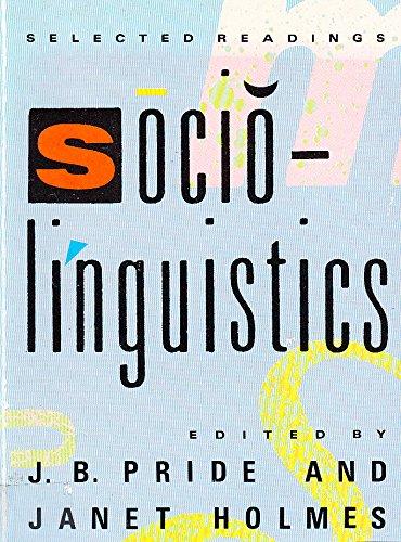 9780140226584: Sociolinguistics: Selected Readings (Pelican)
